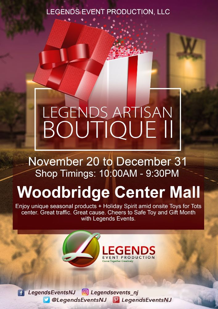 Legends Artisan Boutique II at Woodbridge Center Mall